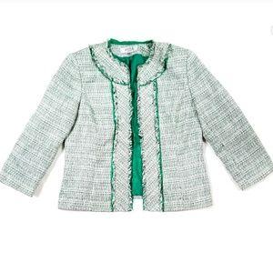 Kasper Emerald Green Tweed Jacket